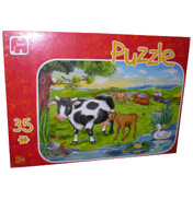 Jumbo At The Farm 35 Piece Puzzle (Assorted)