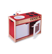 Pintoy Wooden Toy Sink Stove
