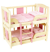 Pintoy Dolls Bunk Bed in Pink