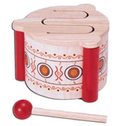Pintoy Wooden Toy Drum