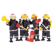 Pintoy Wooden Toy Fire Fighters