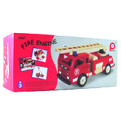 Pintoy Wooden Toy Fire Engine