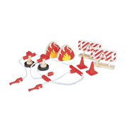 Pintoy Wooden Toy Fire Fighting Accessories