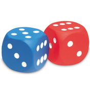 Learning Resources Foam Dot Dice (Set of 2)