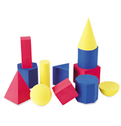 Soft Foam Geometric Shapes (Set of 12)