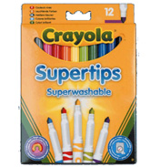 Crayola 12 Washable Super Tips Bright