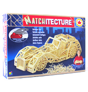 Matchitecture Antique Car Matchstick Model