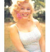 Marilyn Monroe with Flower Colour Poster Card 20 x…