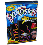 Crayola Colour Explosion Extreme Black- Rainbow