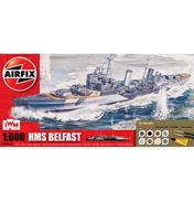 Airfix HMS Belfast Gift Set (Scale 1/600)