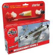 Airfix Messerschmitt Bf109E-3 Starter Set (Scale…