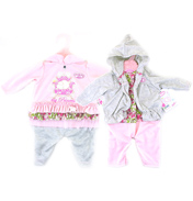 Baby Annabell Dresses PINK DRESS/GREY TROUSERS