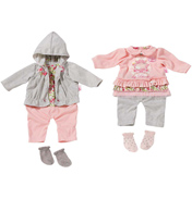 Baby Annabell Outfit on a Hanger PINK TOP, GREY…