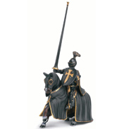 Mythical Figures Black Knight On Horse