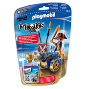 Playmobil Pirates Blue Interactive Cannon With Pirate