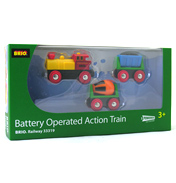Brio Battery Operated Action Train 3 Pack