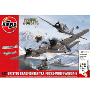 Bristol Beaufighter Mk.X Focke-Wulf Fw190 - Double Dogfight Doubles Gift Set 1:72