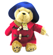 Classic Cuddly Paddington Bear in BLUE COAT