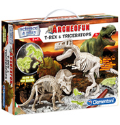 Archeofun Glow in The Dark T-Rex & Triceratops Excavation Kit