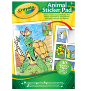 Animals 30 Page Colouring Pad With Stickers