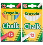 Crayola 12 Anti Dust Chalk Assorted Colours