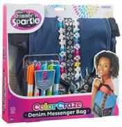Shimmer & Sparkle Color Craze Denim Messenger Bag