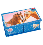 Horses Dreams Jewellery Box (Blue)