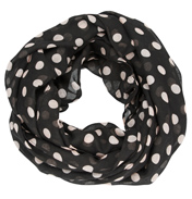 Loopscarf, Black with White Dots