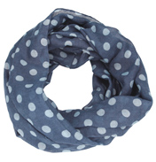 Loopscarf, Indigo with Light Blue Dots