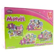 Disney Minnie Mouse 4 Shaped Puzzles