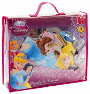 Disney Princess Puzzle & Colour