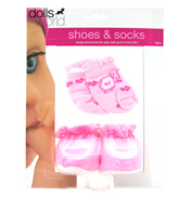 Dolls World Shoes & Socks DARK PINK