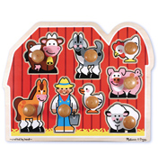 Farm Friends Large Peg Puzzle