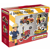 Fireman Sam 4 Shaped Puzzles in a Box