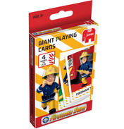 Jumbo Fireman Sam Giant Playing Cards