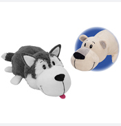 Flip A Zoo Poppi Polar Bear & Asher Husky Plush