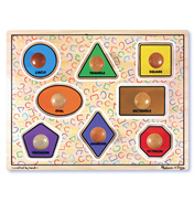 Geometric Shapes Large Peg Puzzle
