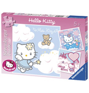 Hello Kitty 3x 49 Piece Puzzles