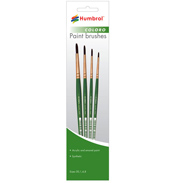 Humbrol COLORO Brush Pack - 00, 1, 4, 8