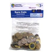 Learning Resources Toy Euro Coin Assortment (100…