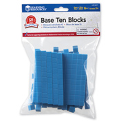 Plastic Base Ten Blocks Smart Pack (121 Piece)