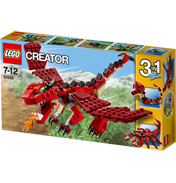 Creator Red Creatures 3 In 1 Pack