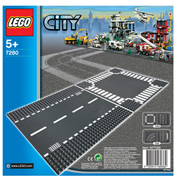 Lego City Straight & Crossroad Road sections