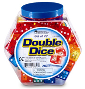 Double Dice Bucket Set of 72