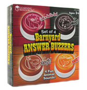 Barnyard Answer Buzzers (Set of 4)