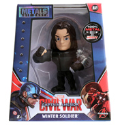 "Captain America: Civil War Winter Soldier Metal Die Cast 4"" Action Figure"