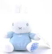Miffy Bean Rattle in Blue