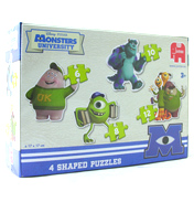 Monsters University 4 in 1 Shaped Puzzle