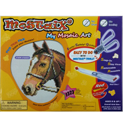 Mostaix Red Ribbon Series Horse Mosaic Art