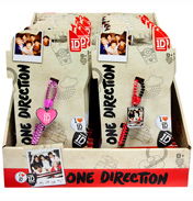 One Direction Zip Bandz RED CIRCLE Medallion